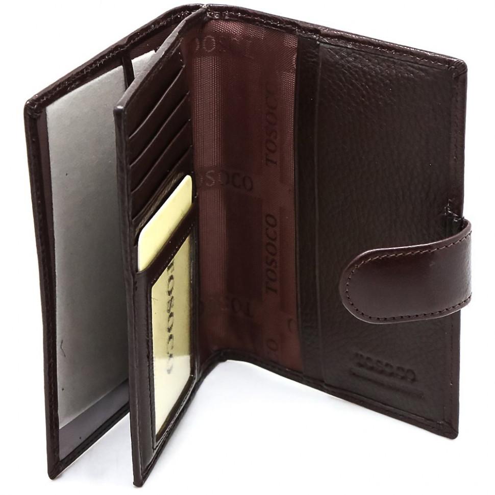 df4f40fb65fb Кошелек обложка на паспорт TOSOCO натуральная кожа (F01-M010 ...